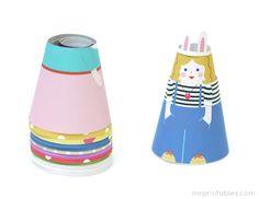 Printable Paper Dolls | Cone Girls - Mr Printables