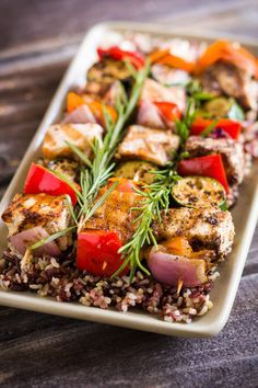 Grilled Rosemary Tuna Kabobs