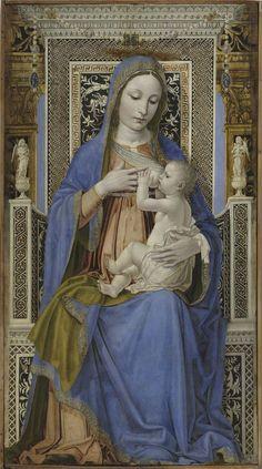 Madonna in trono con il Bambino - Ambrogio da Fossano (Bergognone)