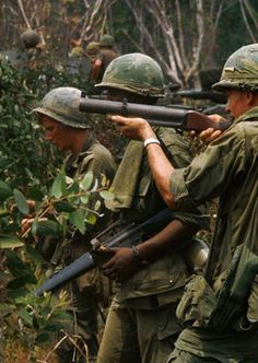The Big Red One during a reconaissance mission of a former Michelin rubber plantation, 1969.