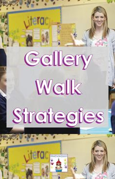 Gallery walk methods encourage dual language and ELL students to collaborate with others, engage in learning, and develop deeper thinking skills. Engage In Learning, The Learning Experience, Learning Goals, Learning Objectives, Blended Learning, Co Teaching, Teaching Strategies, Reading Practice, Reading Skills