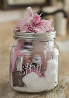 BFF gift idea, nail spa in a jar