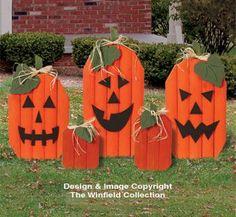 cute pallet pumpkins