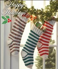 Striped Stockings: Free Knitting Pattern
