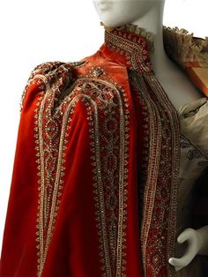 Mantle, bodice detail.  Charles Frederick Worth, 1888.  MCNY The Museum of the City of New York, USA.