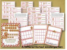 """Ten Frame Ginger Fun Build"" Gingerbread Math Activity"
