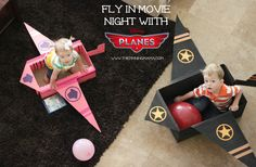 Disney Planes Fly In Movie with DIY Cardboard Airplane | The Pinning Mama