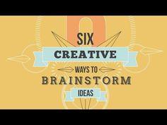 Six Creative Ways To Brainstorm Ideas - YouTube