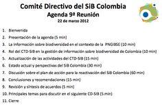 Comité Directivo SiB -2012