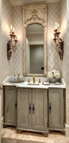 31 Easy French Country Decor Ideas On A Budget for 2018 - Luxury French Country Bathroom Decor Ideas - Bad Inspiration, Bathroom Inspiration, Interior Inspiration, French Decor, French Country Decorating, Rustic French, Modern Rustic, Baños Shabby Chic, French Country House
