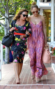 Pin for Later: Can't-Miss Celebrity Pics!  Jennifer Lopez and her friend Leah Remini paired up to shop at Fred Segal in LA on Wednesday.