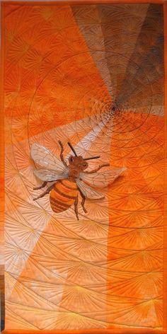 orange bee quilt