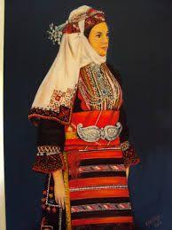 παραδοσιακες φορεσιες θρακης Folk Costume, Costumes, Macedonia, Kimono Top, Greek, Traditional, Sewing, Albania, Women