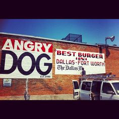 Angry Dog in Dallas, TX - in Deep Ellum area. The namesake 'angry dog' was yummy!!! - VJ