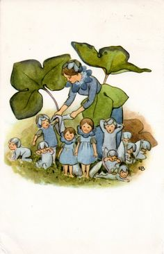 Hepatica family by Elsa Beskow