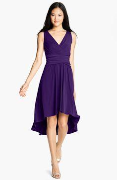 Ivy & Blu Pleated Front V-Neck Dress