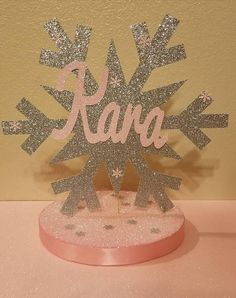 Snowflake Winter Onederland Wonderland Birthday Party or baby shower Table decor You choose colors so pretty in Pink and Gold or Silver