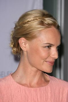 """As previously stated, fine hair can be delicate and extra-sensitive to damaging chemicals and heat. To give your hair a break from styling and backcombing, Arrojo recommends adding some unique updos to your hairstyle arsenal, as the lovely Kate Bosworth continually demonstrates with her chic upstyles. """"Kate deals with [her fine hair] a little more creatively, creating a variety of special occasion updos that add so much visual interest that one does not notice how fine her strands are.""""…"""