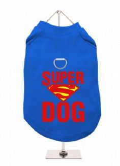 """Super Dog"" Harness-Lined Dog T-Shirt"