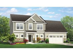 Home Plan HOMEPW77428 is a gorgeous 1969 sq ft, 2 story, 3 bedroom, 2 bathroom plan influenced by  Traditional  style architecture.