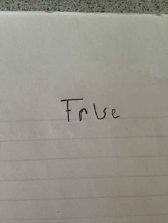 "And this visionary who has found a foolproof response to any ""true or false"" question."