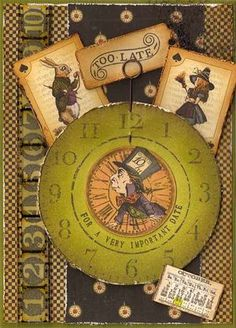 """Too Late"" - Alice in Wonderland ATC"