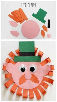 Patrick's Day Leprechaun Craft ~ Simple Paper craft for kids March Crafts, St Patrick's Day Crafts, Daycare Crafts, Classroom Crafts, Toddler Crafts, Spring Crafts, Preschool Crafts, Holiday Crafts, Fete Saint Patrick