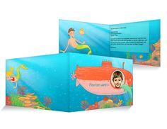 Korallenriff Einladungskarten Kindergeburtstag