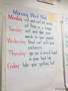 Managing Word Work in Kindergarten - Mrs. Richardson's Class - Are you looking for a word work routine that works with your students? I loved using Words their Wa - Kindergarten Reading, Teaching Reading, Kindergarten Classroom, Kindergarten Morning Work, Guided Reading, Classroom Ideas, Kindergarten Routines, Seasonal Classrooms, Montessori Elementary