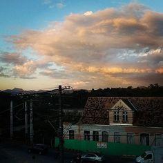Pelas bandas da Ponte do Salto sem o Posto Delta #Blumenau #compartilhablumenau #sunset #pordosol #sky