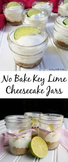 These cute little key lime cheesecakes only take 6 ingredients and just a few minutes to make. They are a perfect individual dessert that travel well. Make a batch for your next party!