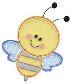 Bumble Bee embroidery design at Bunnycup Embroidery - http://www.bunnycup.com/embroidery/design/MiscellaneousSingles