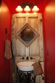 door idea for bathroom