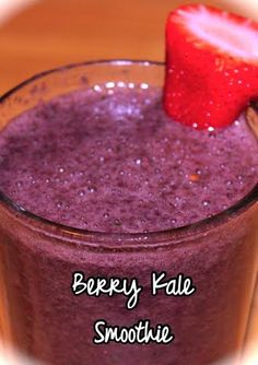 Try this fruit and kale smoothie for breakfast or a midday snack.