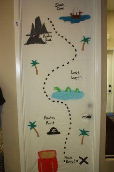 Halloween Door Decorations -- Pirate Party