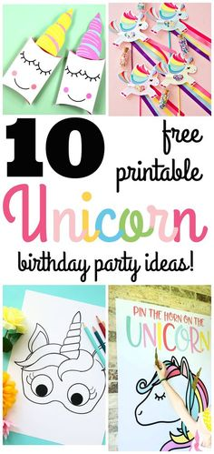 10 Amazing Unicorn Birthday party ideas with free printables! From Unicorn games to Unicorn party favors you are sure to be inspired!