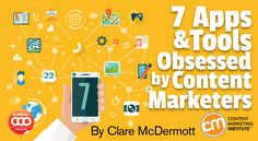7 Apps and Tools Obsessed by Content Marketers By CLARE MCDERMOTT published MARCH 2017 - Content Marketing Institute - Especially interested in Hemingway writing tool Co Marketing, Content Marketing Tools, Marketing Institute, Online Marketing, Digital Marketing, Marketing Strategies, Headspace App, Go To Apps, Must Have Tools