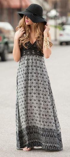 Boho maxi dress #swoonboutique
