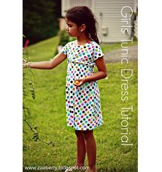 Tutorial: Little girl empire waist tunic dress