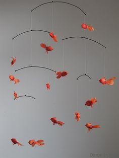"""mobile """"poissons rouges"""" damebelette.blogspot.com"""