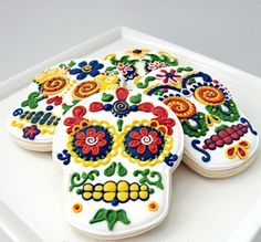 Day of dead cookies.....adore!