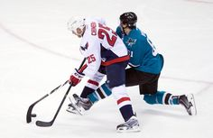 Washington Capitals Jason Chimera, San Jose Sharks Justin Braun