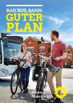 GRÜNE Themenplakate zur Kommunalwahl 2016 - Rad, Bus, Bahn: Guter Plan