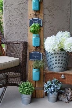 45 New Planter Ideas For Using Mason Jars | DIY to Make