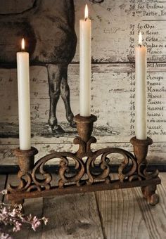 Ana Rosa ✦★ ♥ ♡༺✿ ☾♡ ♥ ♫ La-la-la Bonne vie ♪ ♥❀ ♢♦ ♡ ❊ ** Have a Nice Day! ** ❊ ღ‿ ❀♥ ~ Wed June 2015 ~ ❤♡༻ ☆༺❀ . Candelabra, Candle Holders, Decor, Rustic Elegance, Candle Lanterns, Candlelight, Candles, Candle In The Wind, Save On Crafts
