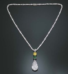Diamond, Yellow Diamond, and Emerald Pendant Necklace  Tiffany & Co.  Christie's