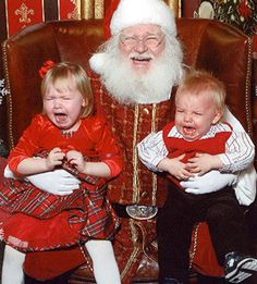 To some kids, that jolly guy with rosy cheeks and the long beard is well, freaky! Check out some of the funniest scared-by-Santa Claus photos, submitted by moms (trust us: you'll want to send this one to a friend). Santa Claus Photos, Santa Pictures, Christmas Pictures, Funny Pictures, Christmas Humor, All Things Christmas, Vintage Christmas, Christmas Holidays, Xmas