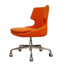 Modern Desk Chair Orange