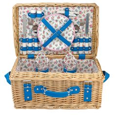 Highgate Ditsy Filled Wicker Hamper | Summer Picnics and Outdoor Dining | CathKidston