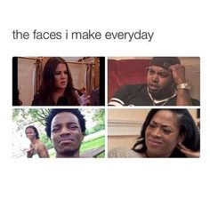 I make these faces when i see stupid pepole or confused. Or my normal bitch rest face